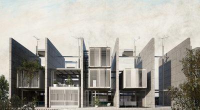 ΜΕΣΟΤΟΙΧΙΕΣ is a social housing concept composed of 23 parallel party walls