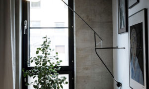 Unexpected Scandinavian home with concrete walls (38 sqm)