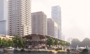 Construction on Powerhouse's Floating Office in Rotterdam underway